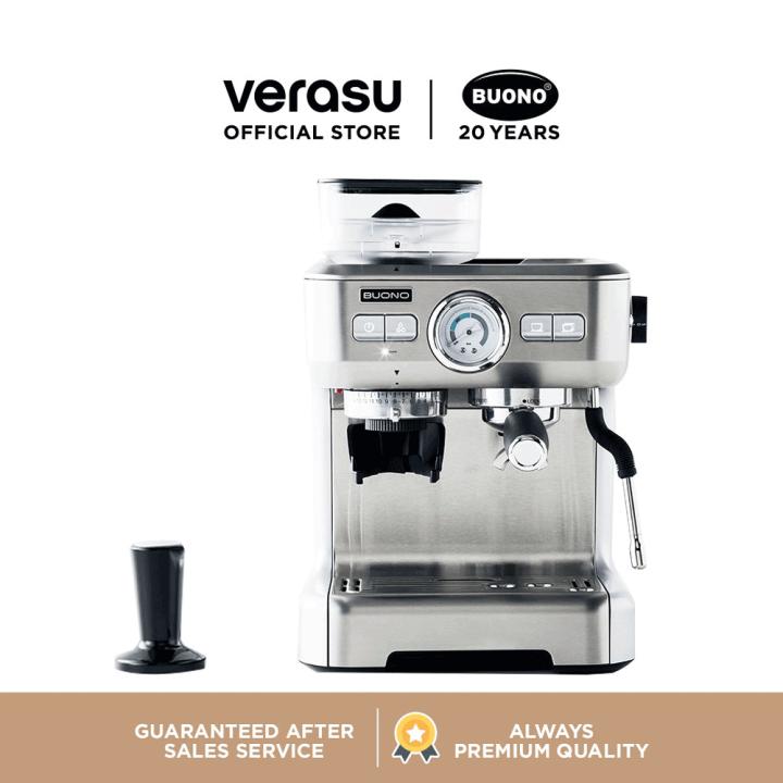 BUONO เครื่องชงกาแฟเอสเพรสโซ่ พร้อมที่บดเมล็ดกาแฟ รุ่น BUO-265701 VERASU